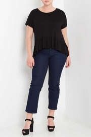 MaiTai Black Peplum Tee - Front full body