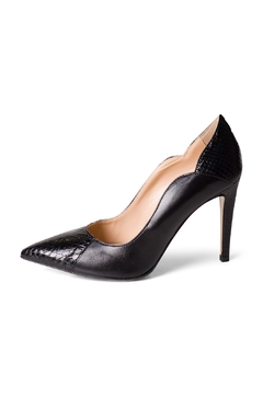 Shoptiques Product: Black Pitone-Nappa Pumps