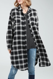 POL Black Plaid Flannel - Product Mini Image