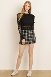 storia Black Plaid Skirt - Product Mini Image