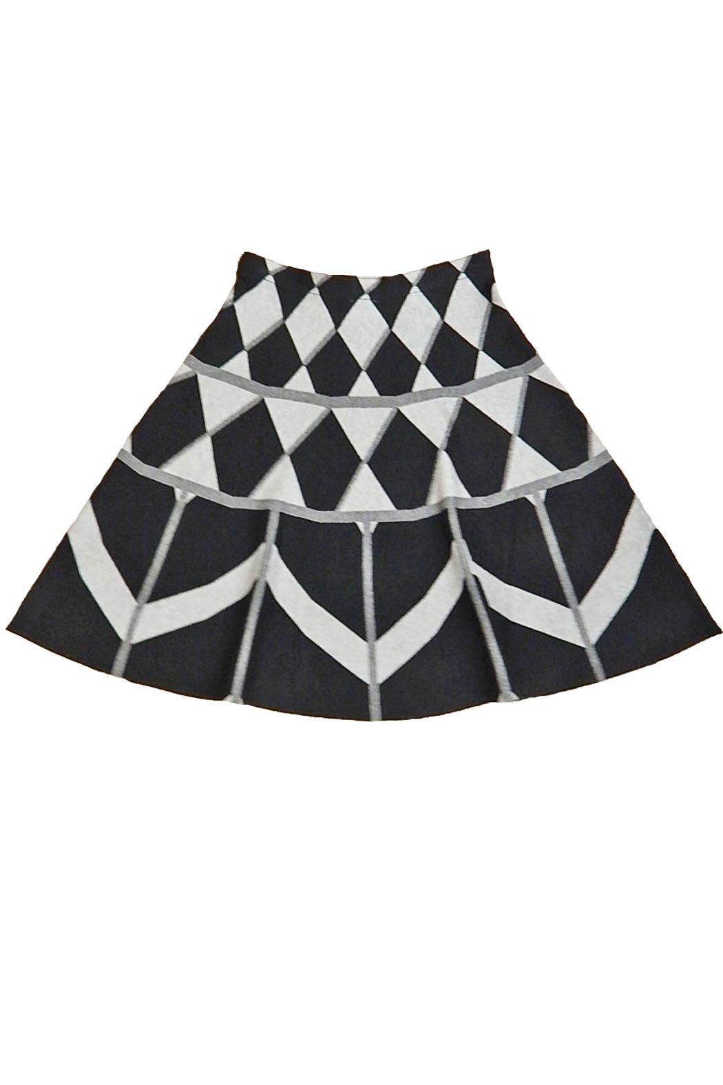 Sioni Black Plaid Skirt - Front Cropped Image