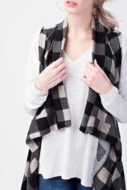 12pm by Mon Ami Black Plaid Vest - Product Mini Image