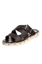 Charles David Black Platform Slide - Front cropped