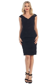 Shoptiques Product: Black Pleated Short Dress