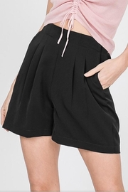 Racheal Black Pleated Shorts - Product Mini Image