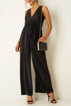 frontrow Black Plisse Jumpsuit - Product List Image