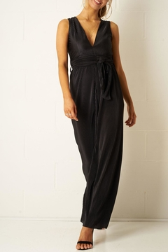 frontrow Black Plisse Jumpsuit - Alternate List Image