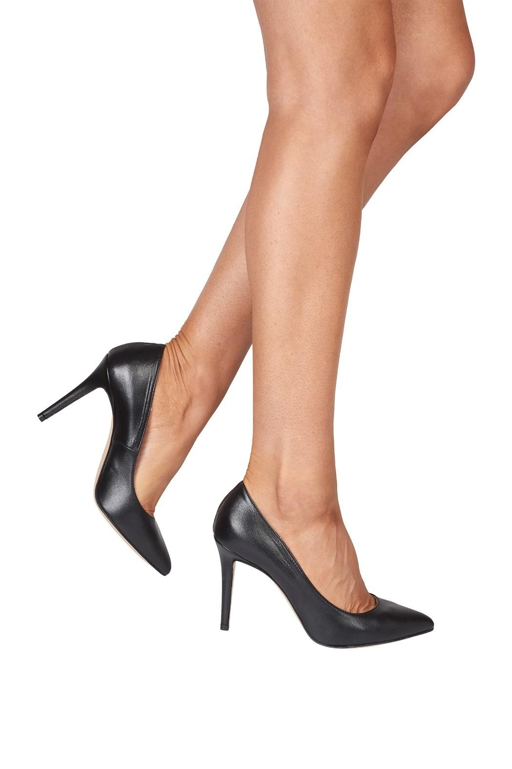 Lady Doc Black, Pointed-Toe, High-Heel - Back Cropped Image