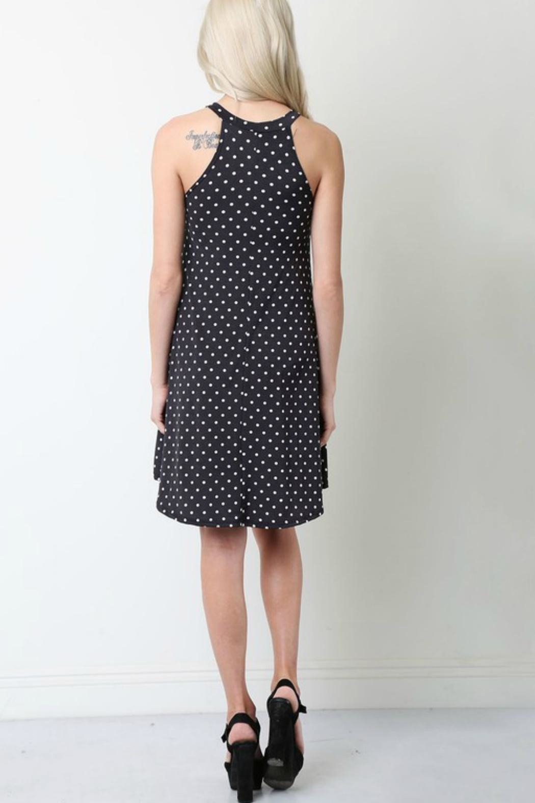 Style in the USA Black Polka Dot - Front Full Image