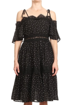 Ina Black Polka-Dot Lace - Product List Image