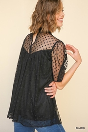 Umgee USA Black Polka-Dot-Lace Top - Other