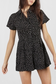 Mod Ref Black Polka-Dot Romper - Product Mini Image