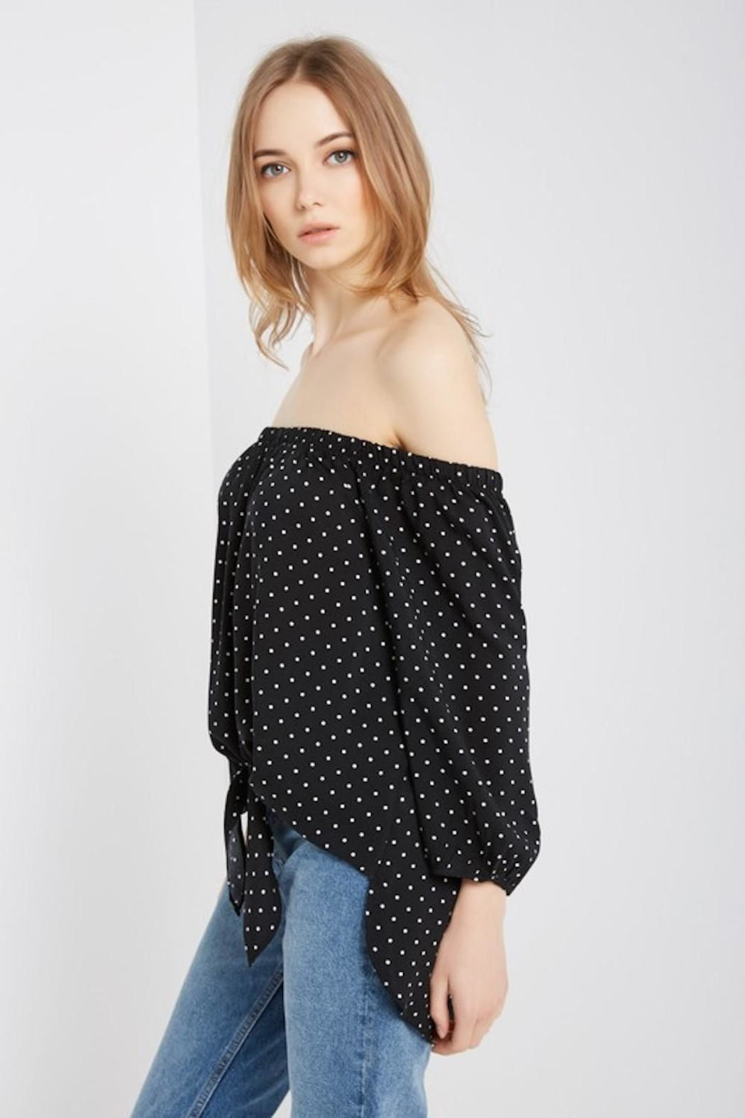 8298302f04 Soprano Black Polka-Dot Top from Los Angeles by AndyLiz Boutique ...