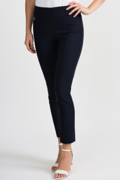 Joseph Ribkoff Black pull-on ankle pants - Product List Image