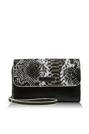 Vera Bradley Black/python Ultimate Wristlet - Product Mini Image
