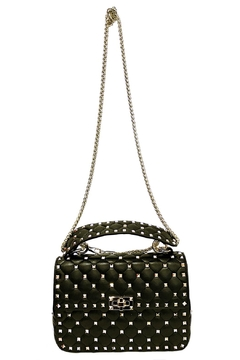 Leather Country Black Quilted Rockstuds - Alternate List Image