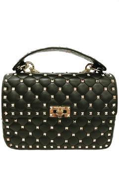 Leather Country Black Quilted Rockstuds - Product List Image