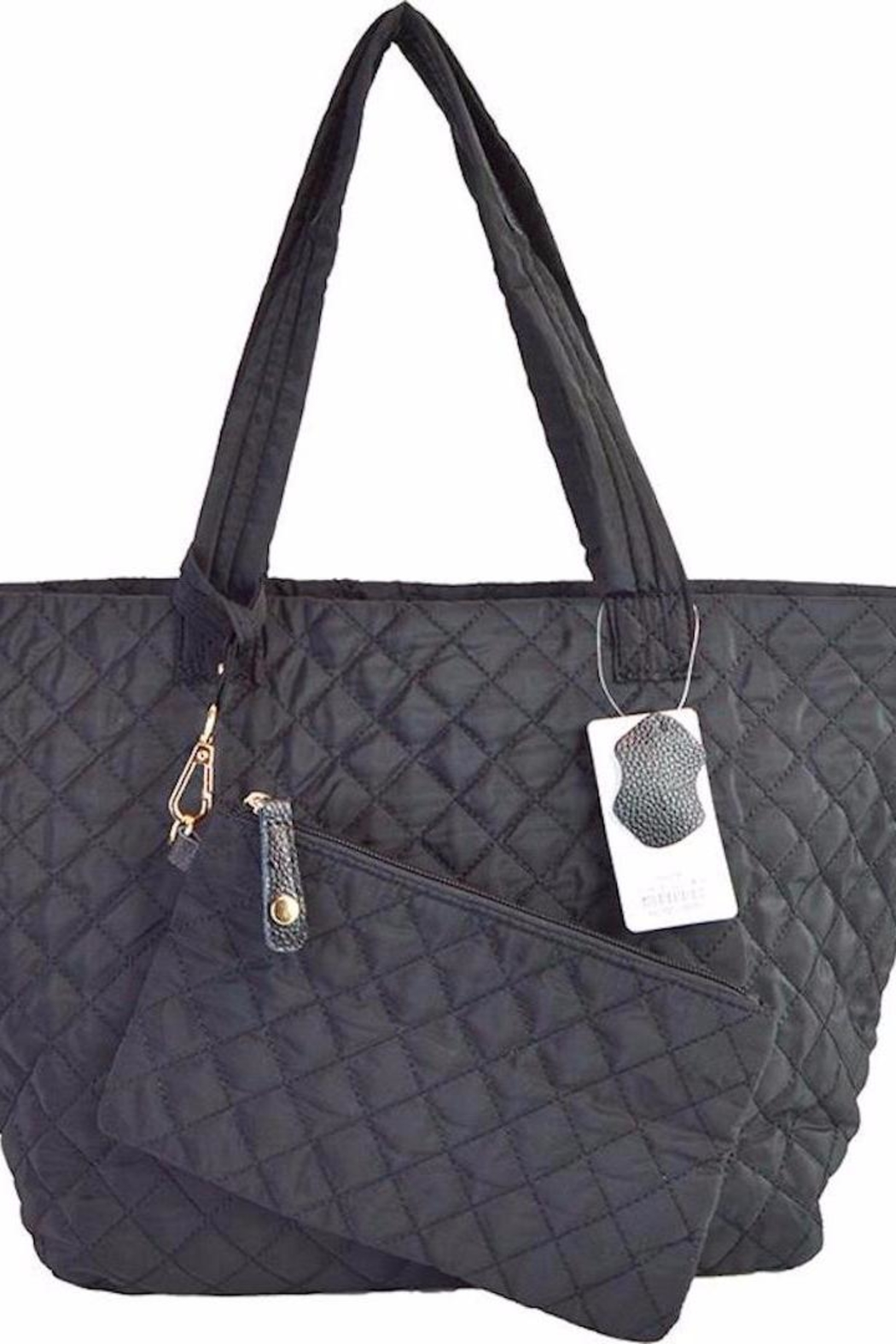 TIGERLILY Black Quilted Tote - Main Image