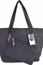 TIGERLILY Black Quilted Tote - Product Mini Image