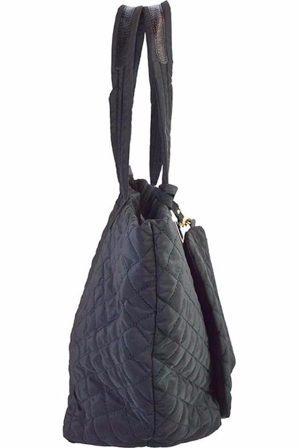 TIGERLILY Black Quilted Tote - Front Full Image