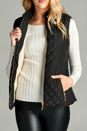 Active Basic Black Quilted Vest - Product Mini Image