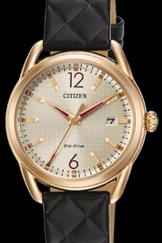 Citizen Watches Black Quilted Watch - Product Mini Image