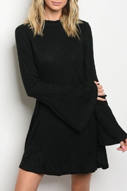 LoveRiche Black Ribbed Dress - Product Mini Image