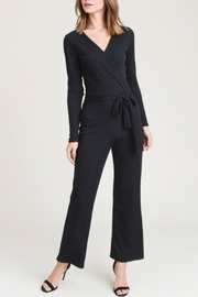 Wasabi + Mint Black Ribbed Jumpsuit - Product Mini Image