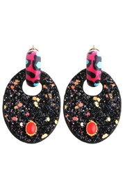 Madison Avenue Accessories Black Rose Earring - Front cropped