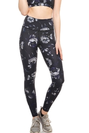 Mono B Black Rose Leggings - Front cropped