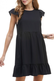 TCEC Black ruffle dress - Product Mini Image