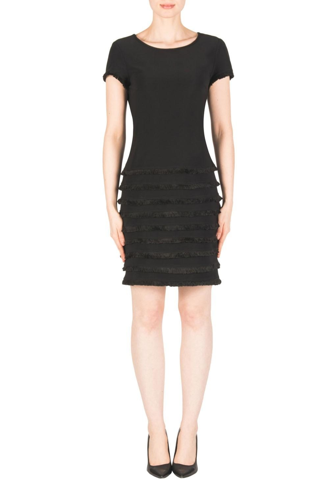 Joseph Ribkoff Black Ruffle Dress - Main Image