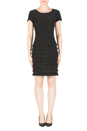 Joseph Ribkoff Black Ruffle Dress - Front cropped
