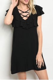 Very J Black Ruffle Dress - Product Mini Image