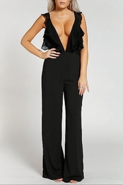 Rehab Black Ruffle Jumpsuit - Product Mini Image