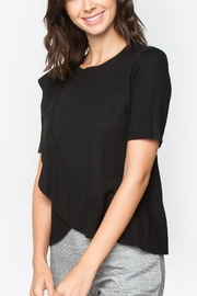 Sugarlips Black Ruffle Sweater - Front full body