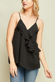 Entro Black Ruffle Tank - Product Mini Image