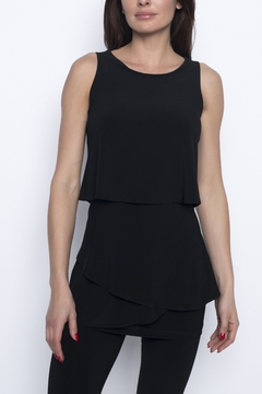Frank Lyman Black Ruffle Tunic - Alternate List Image