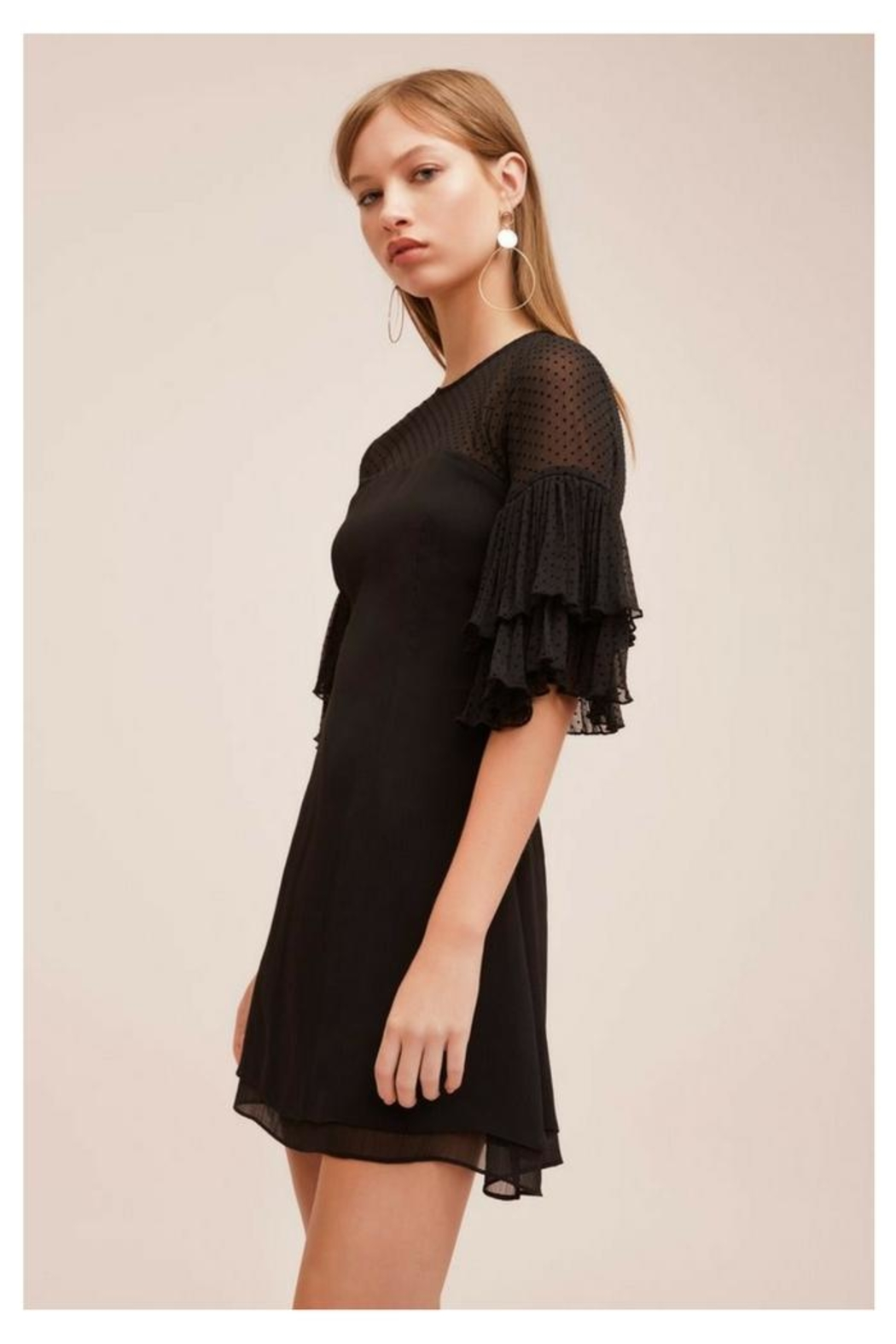 Keepsake Black Ruffled Mini - Side Cropped Image