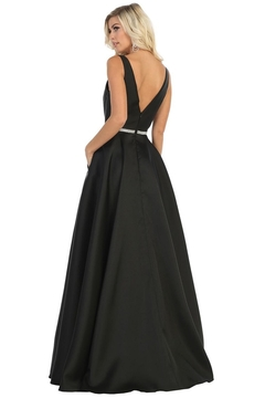 May Queen  Black Satin A-Line Formal Ball Gown - Alternate List Image