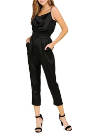 BaeVely Black Satin Jumpsuit - Product Mini Image