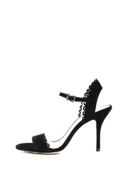 Pelle Moda Black Scalloped Sandal - Product Mini Image