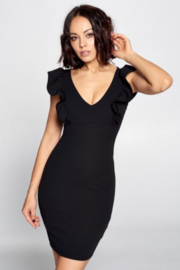 chocolate Black Scuba Dress - Product Mini Image