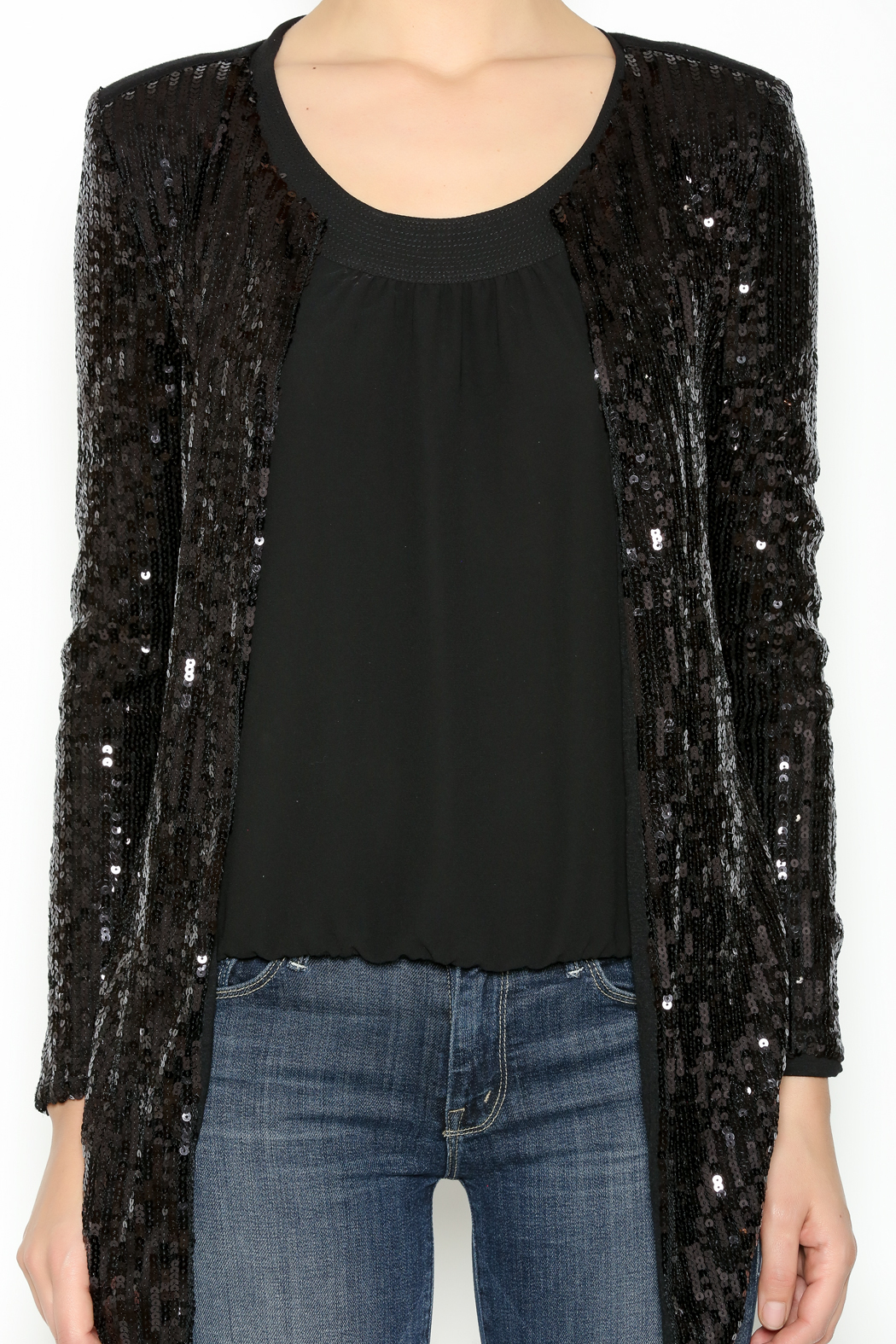 Black Sequin Blazer from Las Vegas by Glam Squad Shop — Shoptiques