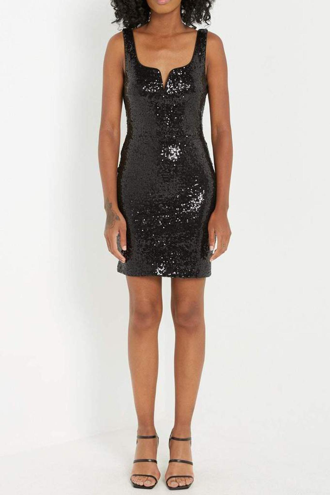 290d85fe74f Soprano Black Sequin Dress from New York by Luna — Shoptiques