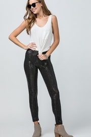 Entro Black Sequin Leggings - Product Mini Image
