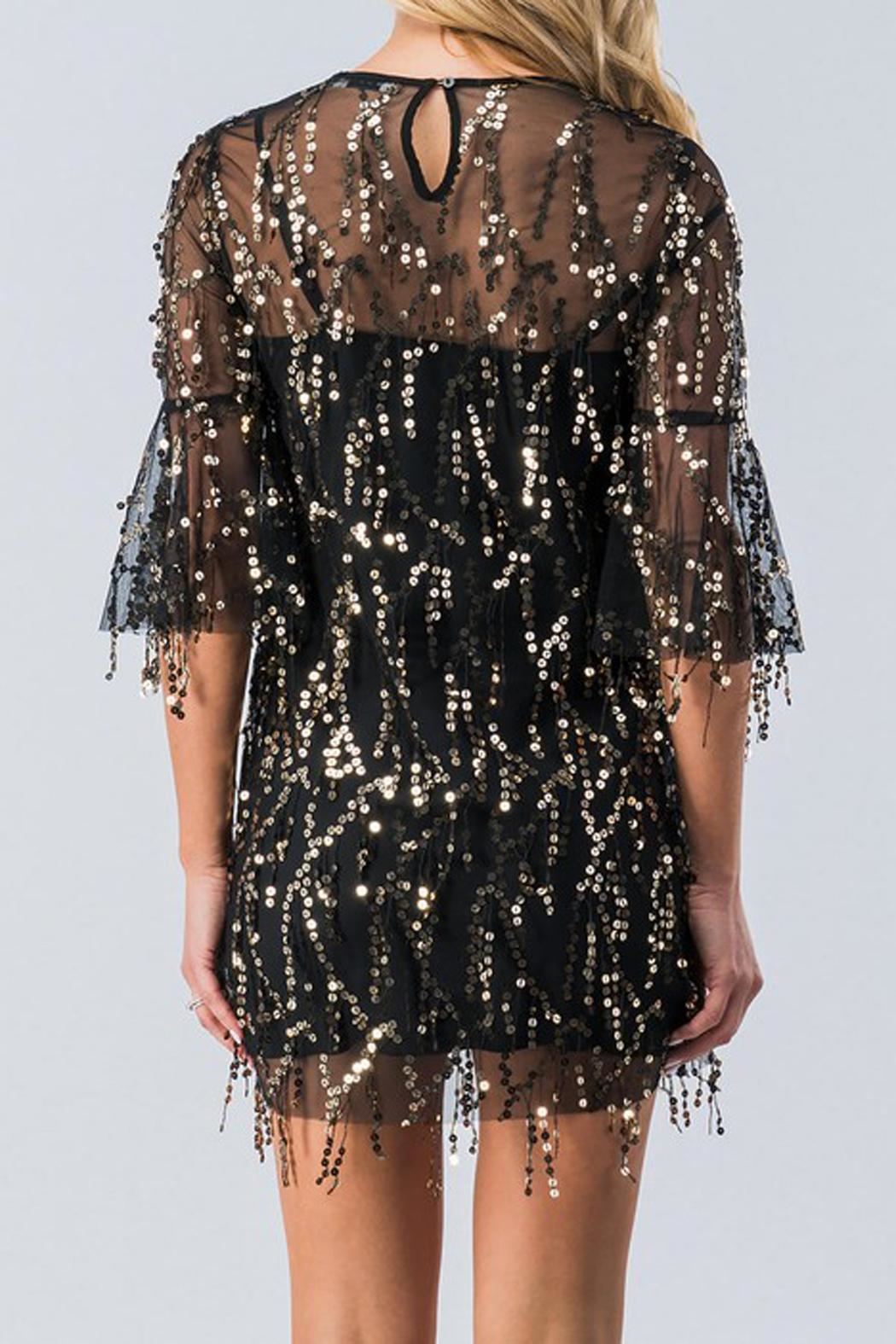 Ark & Co. Black Sequin Tunic - Front Full Image