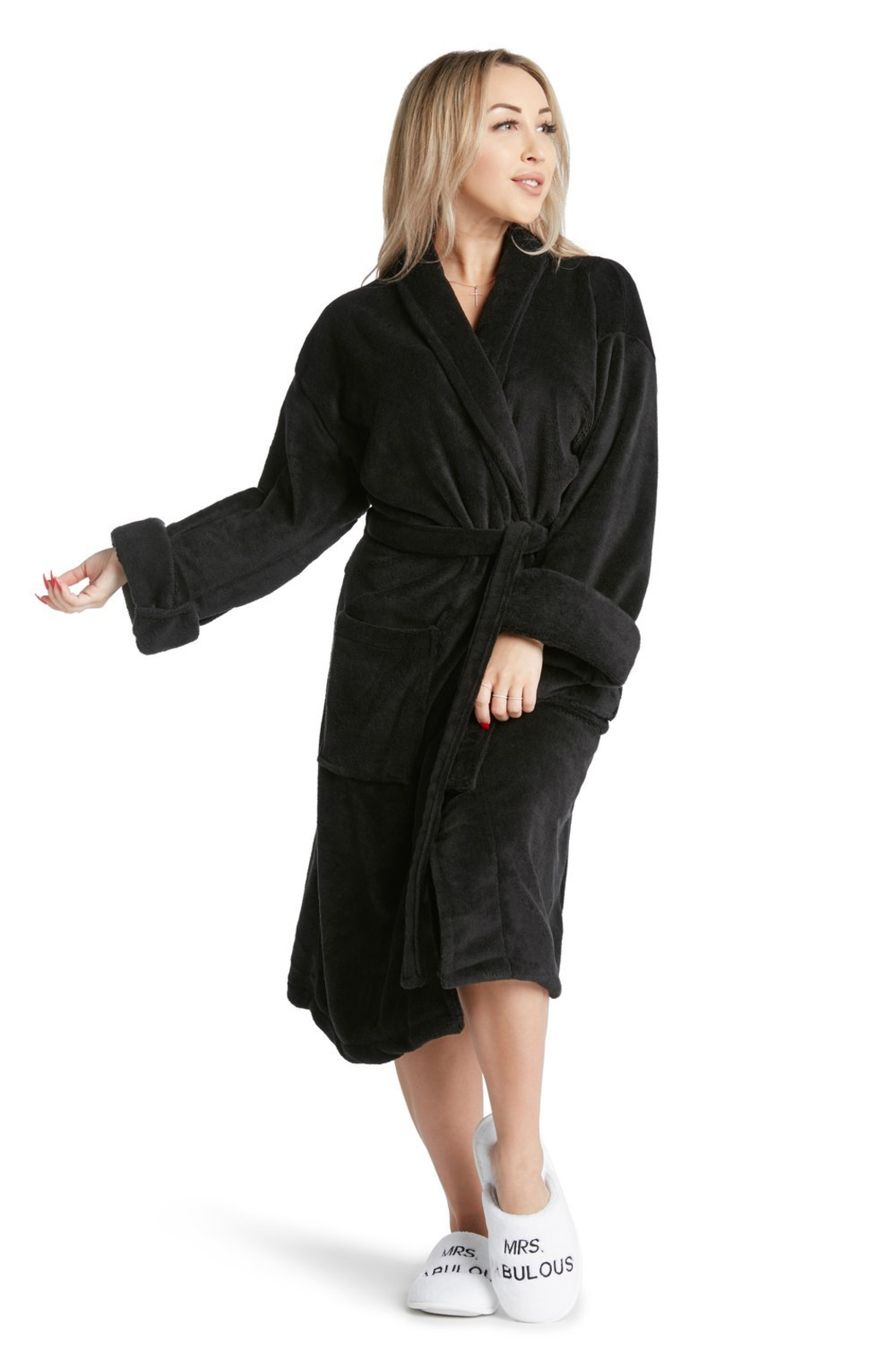 LA Trading Co. Black Sheep Robe - Front Full Image