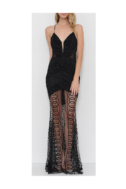 L'atiste Black Sheer Evening Dress - Product Mini Image