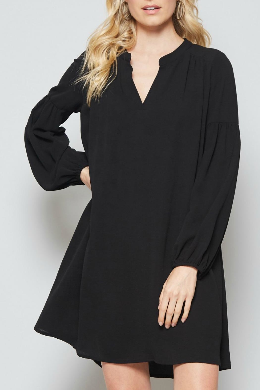 Andree by Unit Black Shift Dress - Main Image